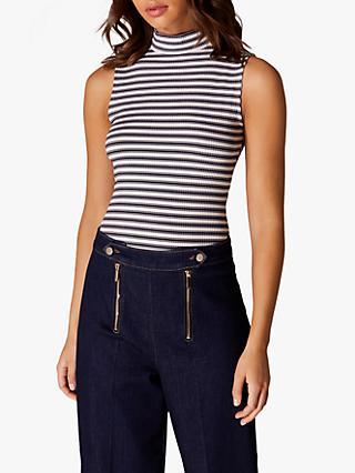 b0dd8ba3e1769 Karen Millen Striped High Neck Sleeveless Top