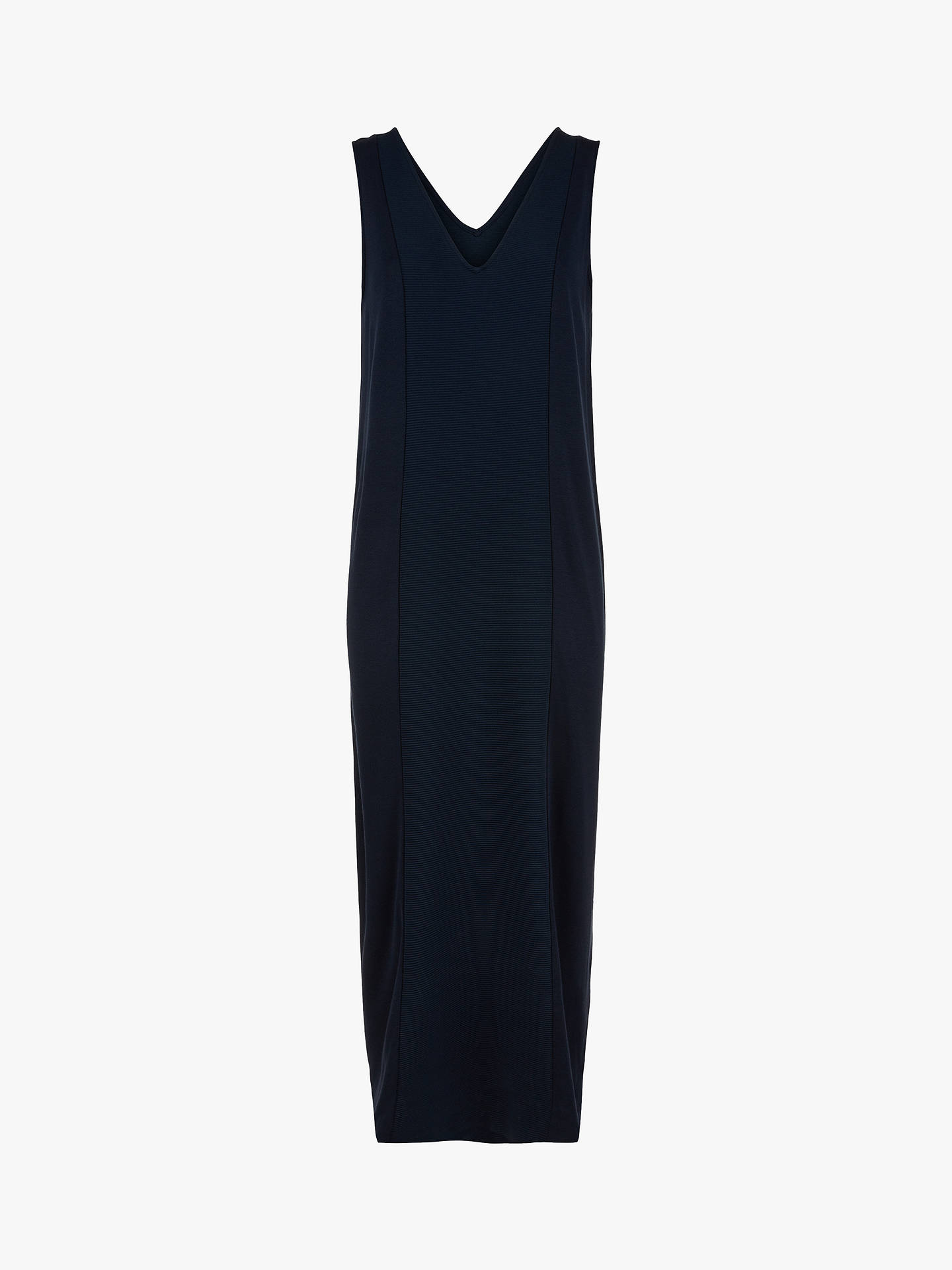 Buy Jaeger Ottoman Maxi Dress, Navy, XS Online at johnlewis.com