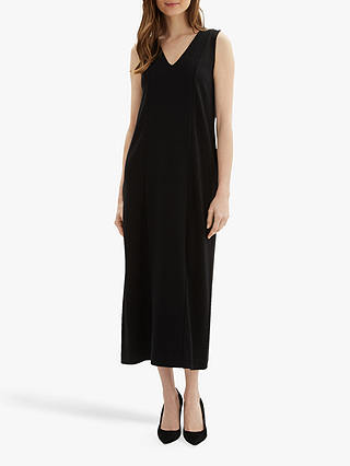 Buy Jaeger Ottoman Maxi Dress, Black, XS Online at johnlewis.com