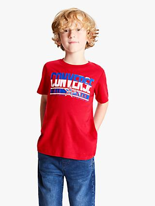 Converse Boys' Basketball Retro T-Shirt, Red