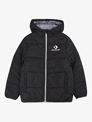 Converse Boys' Quilted Jacket, Black