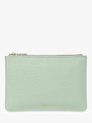 Whistles Matte Croc Small Clutch Bag