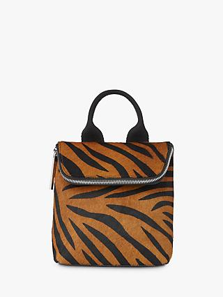 Whistles Tiny Verity Leather Zebra Backpack, Multi