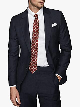 Reiss Muffato Wool Check Modern Fit Suit Jacket, Airforce Blue