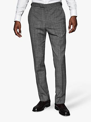Reiss Lafite Check Modern Fit Suit Trousers, Grey