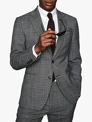 Reiss Lafite Check Modern Fit Suit Jacket, Grey