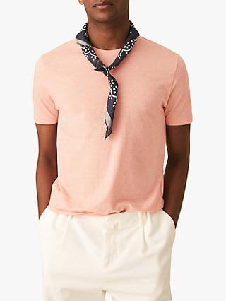 Reiss Dixon Marl Crew Neck T-Shirt, Orange
