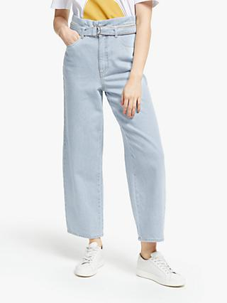 Gestuz Abigaile Wide Leg Jeans, Light Blue