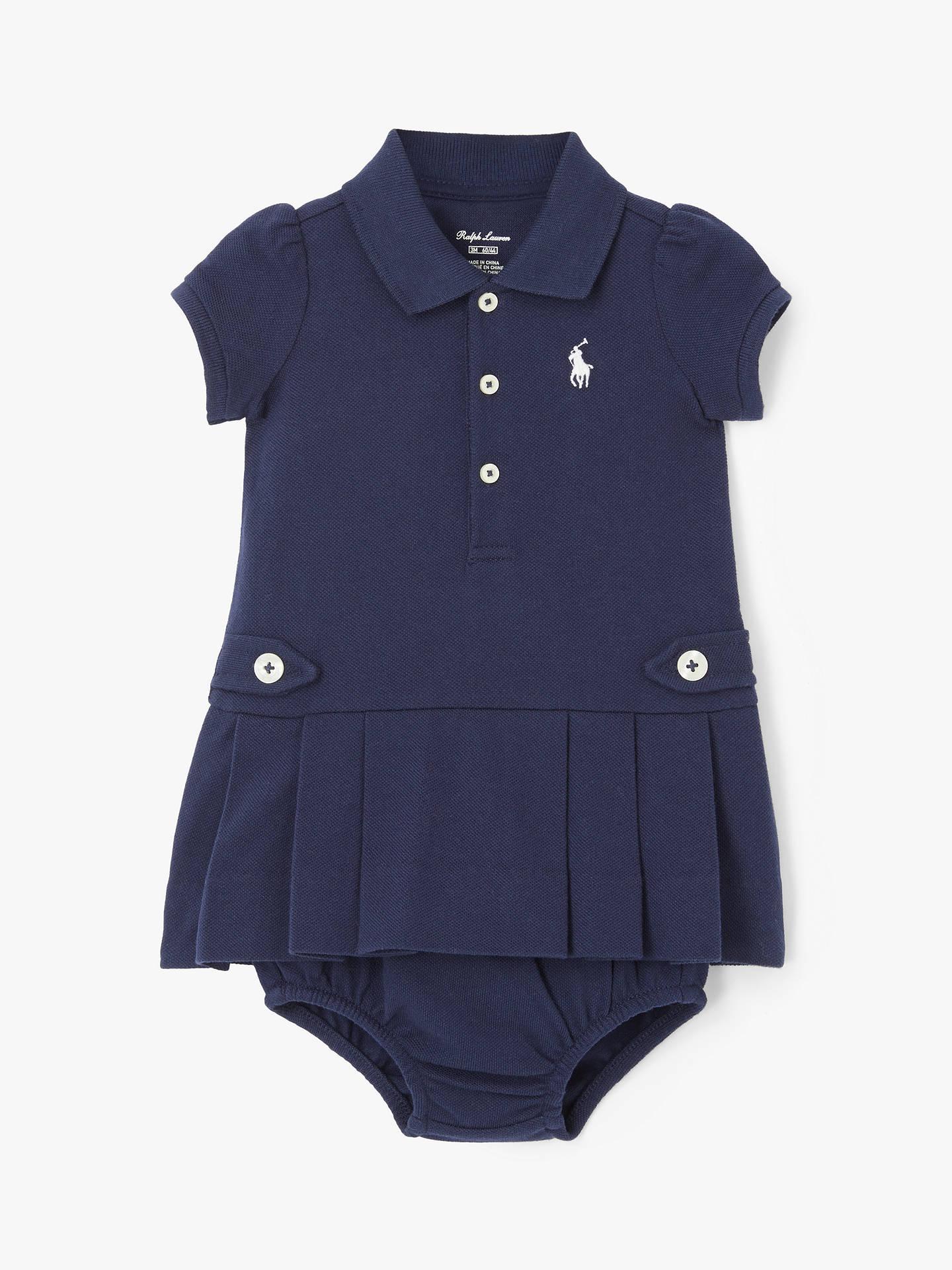 b02bac33e1 Polo Ralph Lauren Baby Polo Dress, Navy