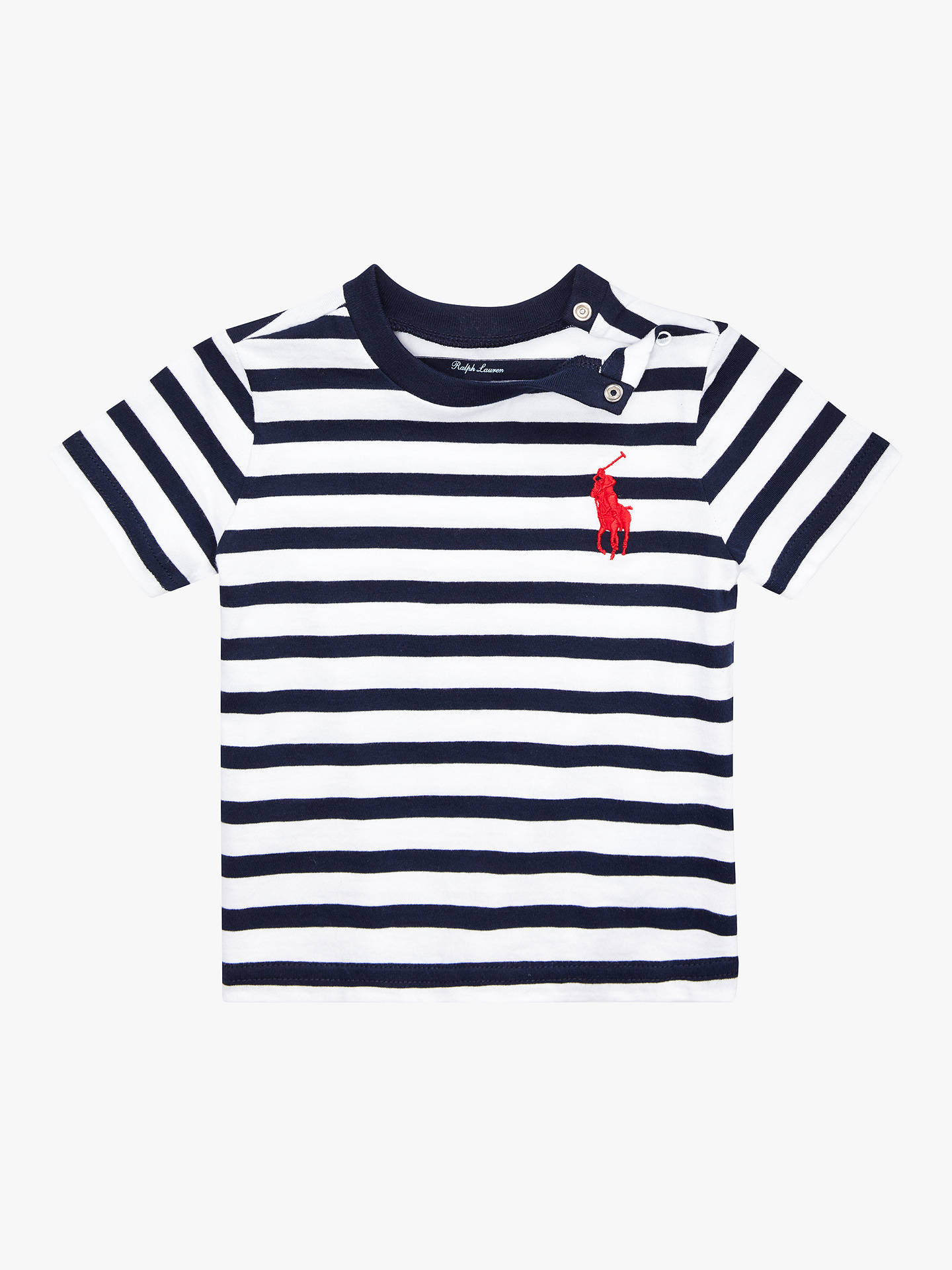 5db69190d Polo Ralph Lauren Baby Stripe T-Shirt at John Lewis   Partners
