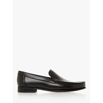 Dune Sloane Square Leather Loafers, Black