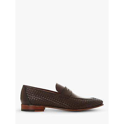 Dune Salvation Weave Leather Loafers