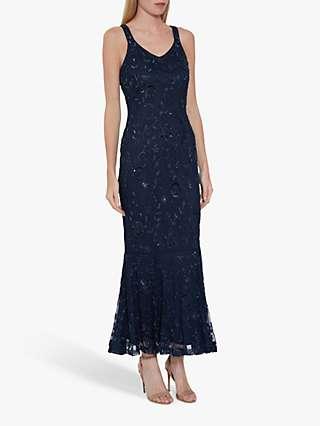 Gina Bacconi Zaina Embellished Dress, Navy