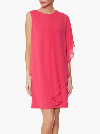 Gina Bacconi Aletta Moss Crepe Dress And Chiffon Cape