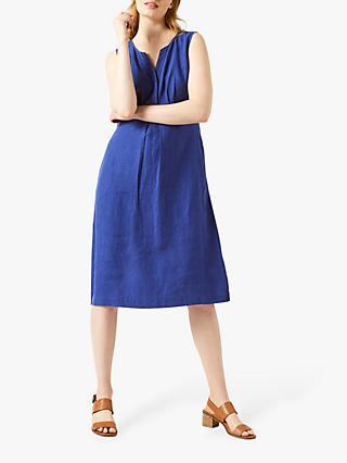 White Stuff Emi Linen Dress, Navy