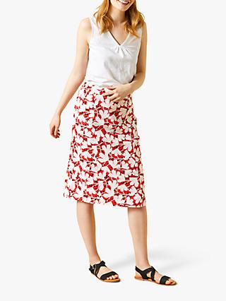 White Stuff Elsie Printed Skirt, Orange