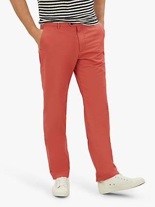 Jaeger Regular Fit Cotton Chinos, Coral
