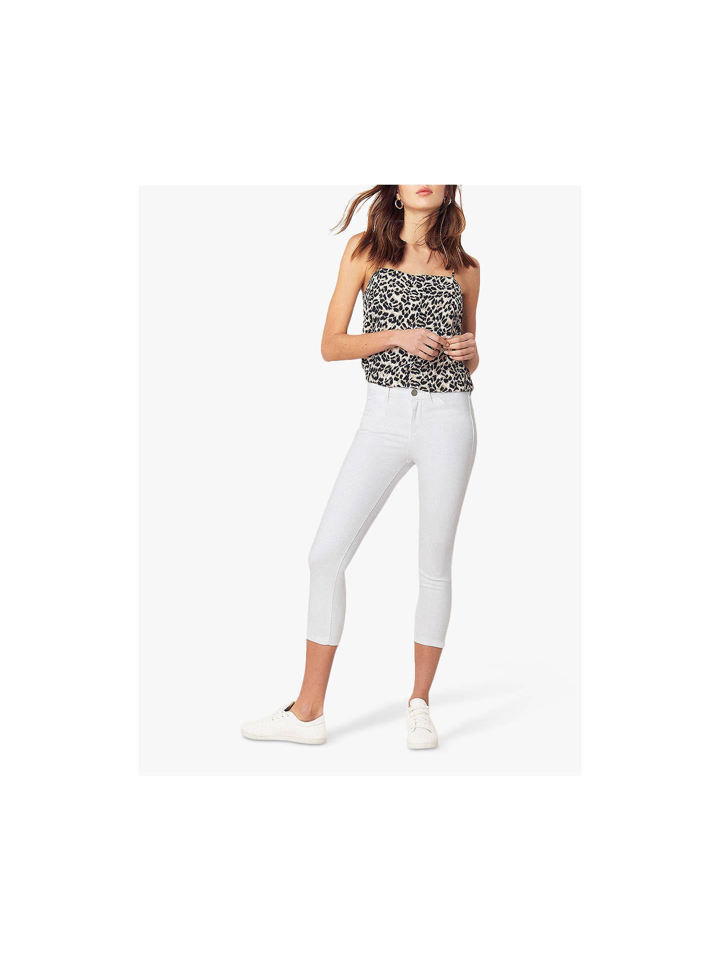 e473f3b4b55d Buy Oasis Grace Capri Trousers, White, 6 Online at johnlewis.com ...