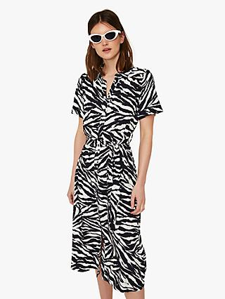 12e7ef6ef4c Warehouse Zebra Print Shirt Dress