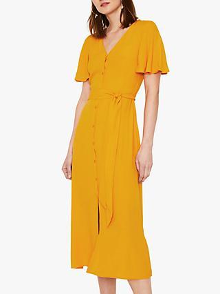381d17fd89cc Warehouse Button Midi Dress