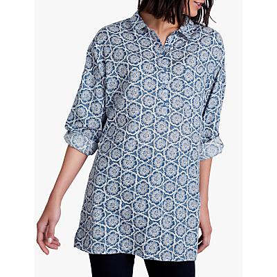 Seasalt Polpeor Shirt, Stamped Flower Voyage