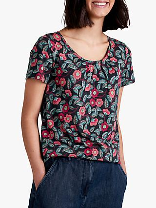 Seasalt Appletree Top, Camellia Dark Night