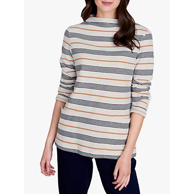Seasalt Oceangoing Stripe Sweatshirt, Gwennol Ecru Magpie