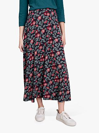 Seasalt Stratus II Skirt, Camellia Dark Night
