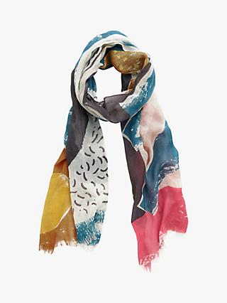 Seasalt Pretty Printed Scarf, Multi Men-An-Tol
