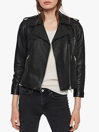 43bc259ba92 AllSaints Aiden Leather Biker Jacket