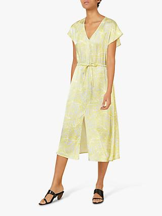Finery Rosa Floral Print Dress, Yellow