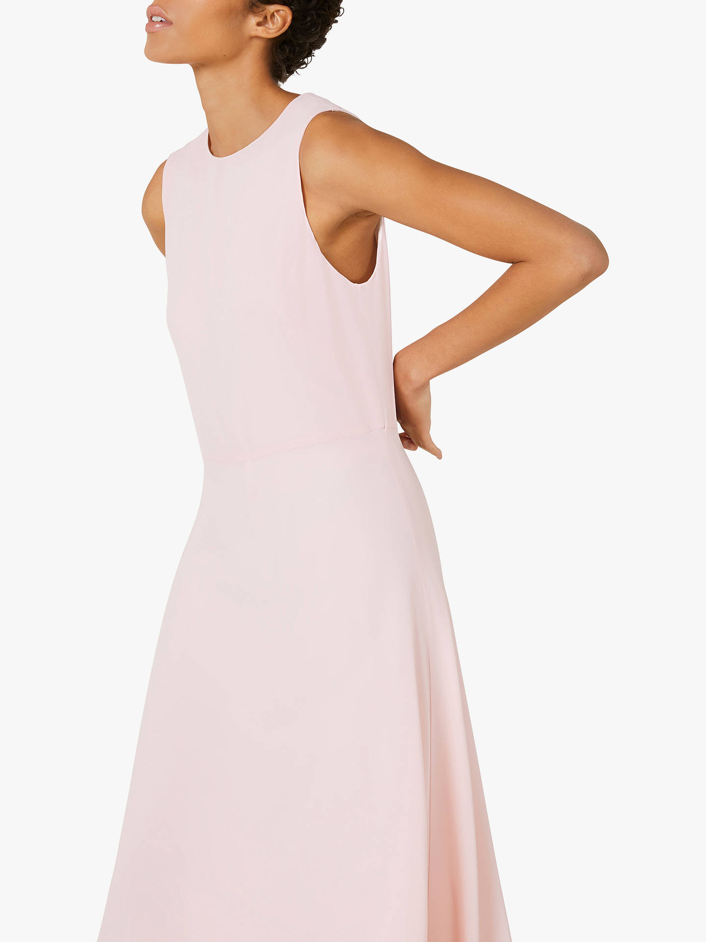Buy Finery Ashley Dipped Hem Dress, Pink, 12 Online at johnlewis.com