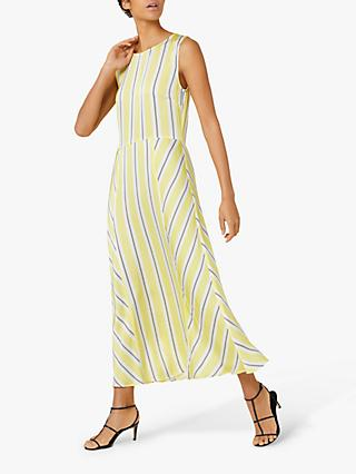 Finery Adalia Stripe Dress, Yellow