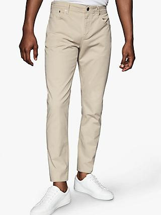 Reiss Pistol Five Pocket Slim Fit Trousers, Stone