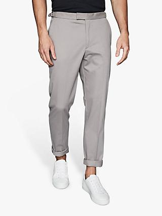 Reiss Ache Brushed Cotton Blend Trousers