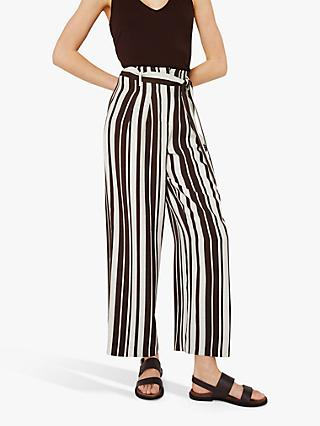 Warehouse Stripe Trousers, Brown/White