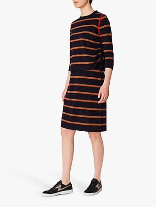 PS Paul Smith Stripe Jersey Jumper Dress, Navy