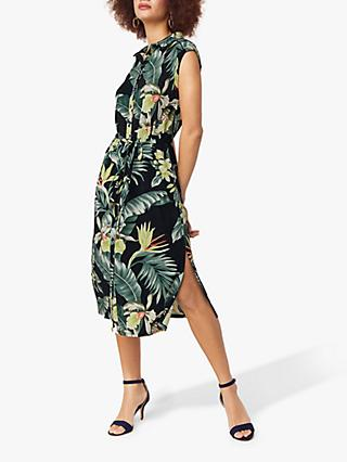 36a3709a3109 Oasis Tropical Shirt Dress, Multi/Blue