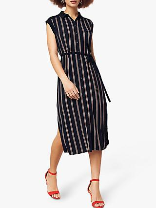b282a12dbff309 Oasis Spliced Stripe Long Fit Shirt Dress