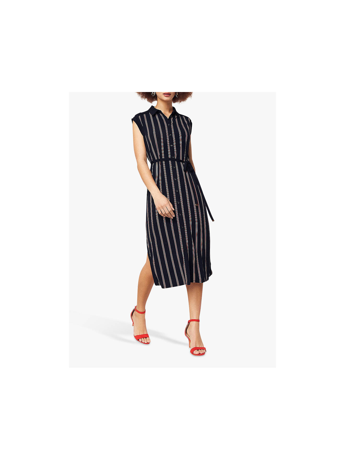cc6cab45ad50 Buy Oasis Spliced Stripe Shirt Dress, Navy/Multi, M Online at johnlewis.