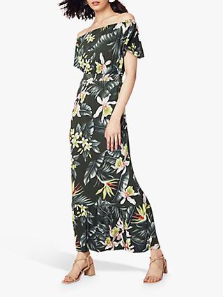 05617bcf5b591 Oasis Delray Floral Print Bardot Maxi Dress