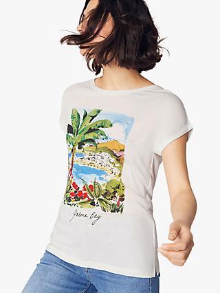 5bed22ebef829 Oasis Vacay Postcard Print T-Shirt