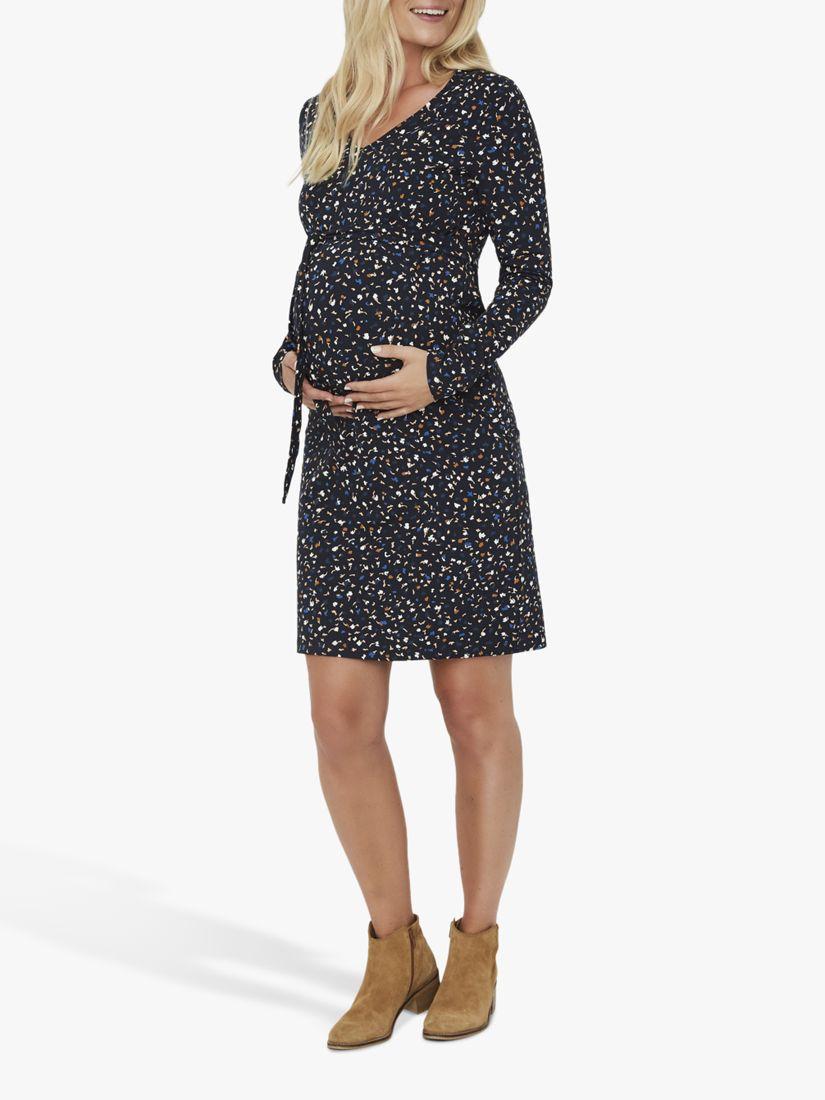 Mamalicious Mamalicious Jenn Jersey Floral Maternity Dress, Black/Multi