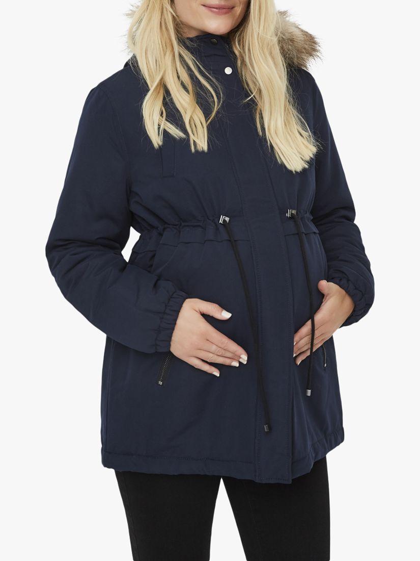 Mamalicious Mamalicious Jess Parka Jacket, Navy
