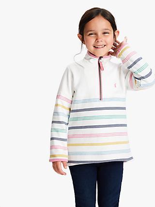 0baa96d131c2 Little Joule Girls' Fairdale Stripe Half Zip Sweatshirt, ...