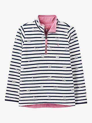0f48fa52c984 Little Joule Girls' Fairdale Stripe Unicorn Half Zip Sweatshirt, ...