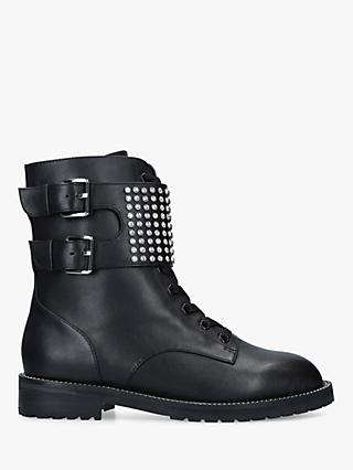 Kurt Geiger London Seth Leather Ankle Boots, Black