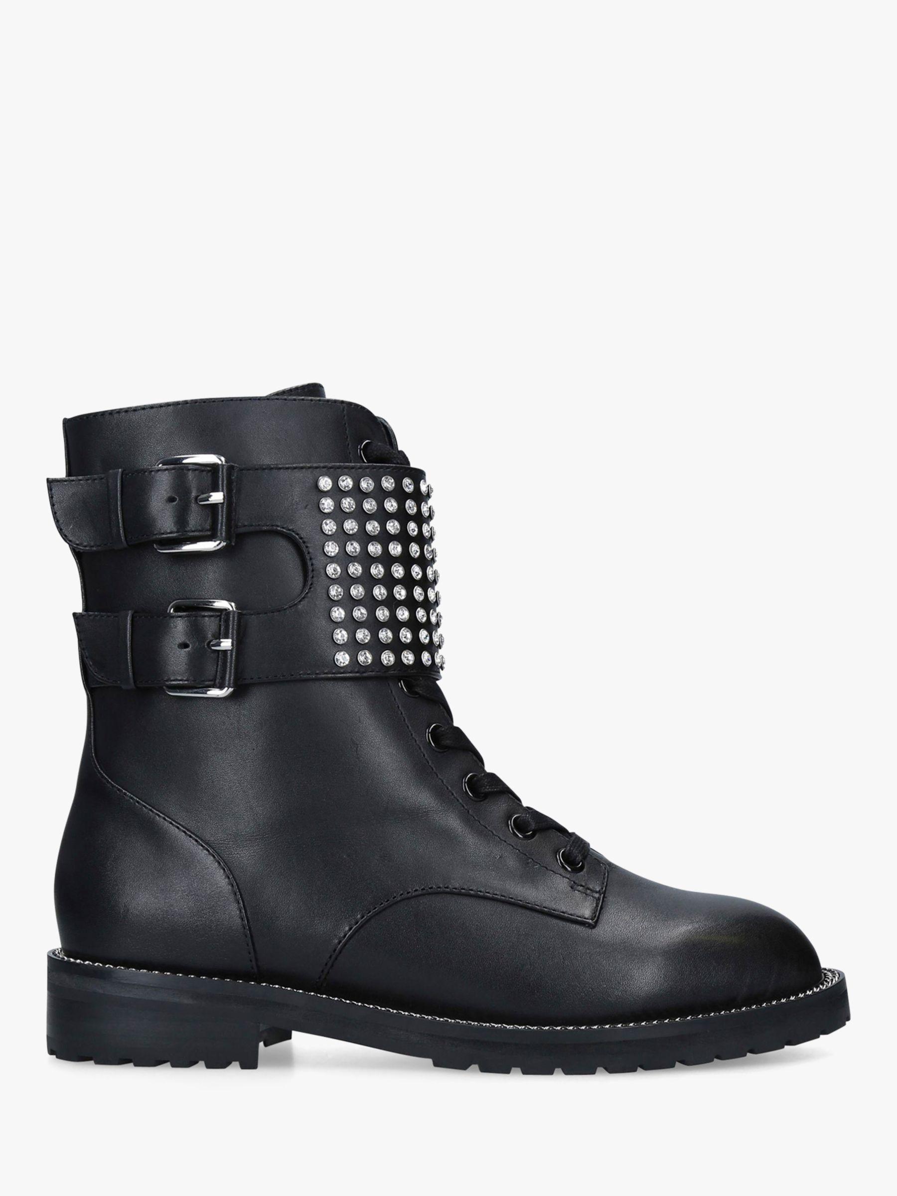 Kurt Geiger London Seth Leather Ankle Boots, Black