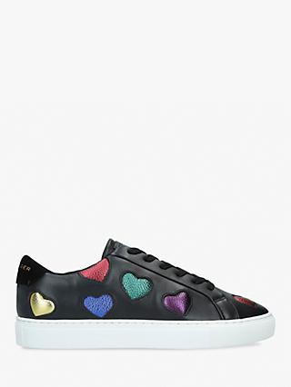 Kurt Geiger London Lane Love Lace Up Trainers, Black