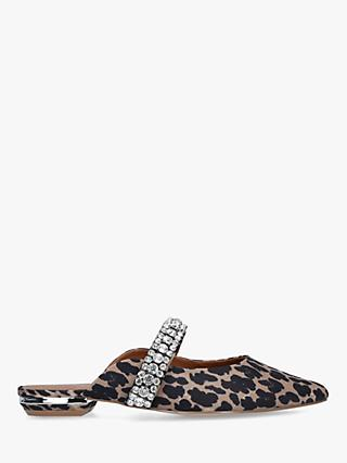 Kurt Geiger London Princely Animal Print Embellished Mules, Neutral/Multi